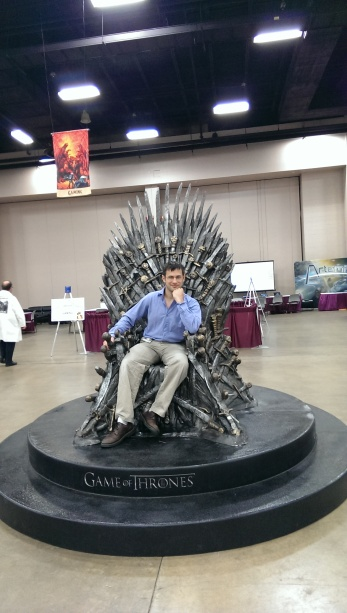 Yous truly sitting atop the Iron Throne. I suspect my reign over Westeros would be short but mercilessly bloody.